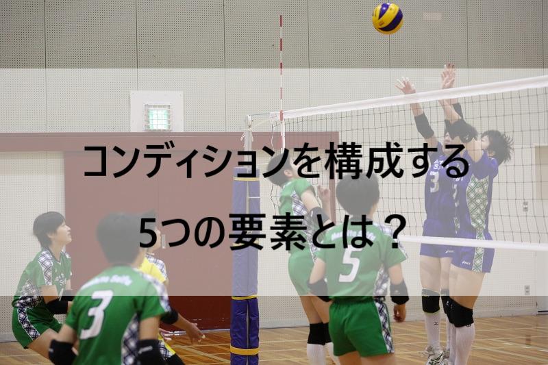 バレーボールのパフォーマンスを向上させるコンディションを構成する5つの要素とは?
